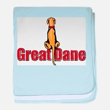 Fawn Great Dane UC Sit Infant Blanket