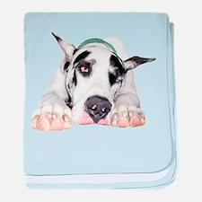 Great Dane Shy Harlequin Infant Blanket