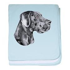 Great Dane HS Blue UC baby blanket