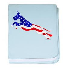 Great Dane Jumper Flag baby blanket
