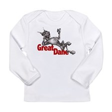 Great Dane Black LB Long Sleeve Infant T-Shirt