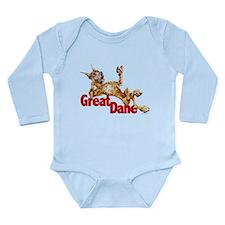 Great Dane Brindle LB Long Sleeve Infant Bodysuit