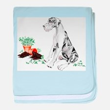 Harle UC Naughty Pup Infant Blanket