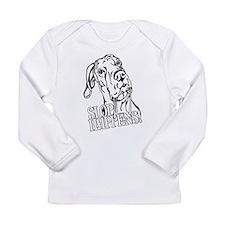 Slop Happens UC B&W Long Sleeve Infant T-Shirt