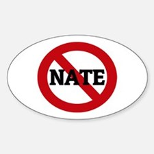 Anti-Nate Oval Decal