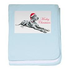Great Dane Merley Xmas UC baby blanket