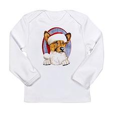 Santa Corgi Long Sleeve Infant T-Shirt