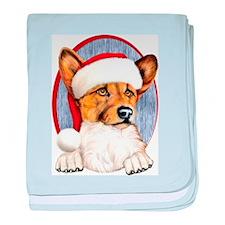 Santa Corgi Infant Blanket