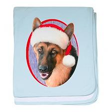 German Shepherd Santa Infant Blanket