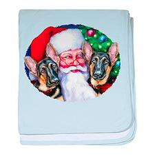 Santa's GSD Christmas Infant Blanket