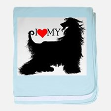 I Love my Afghan Hound Infant Blanket