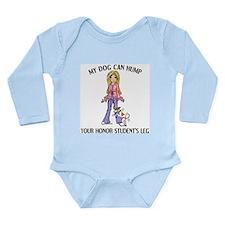 Whippet Honor Student Long Sleeve Infant Bodysuit