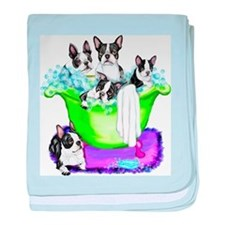 Boston Terrier TubFull Infant Blanket