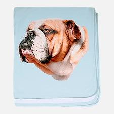 Bulldog Bust Infant Blanket
