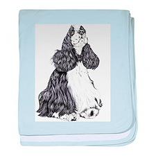 Cocker Spaniel BW Parti Infant Blanket