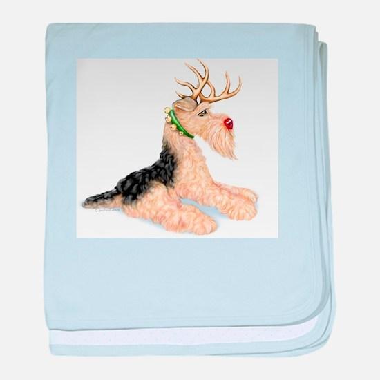 Airedale Terrier Dale Deer Infant Blanket