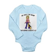 Airedale Honor Student Long Sleeve Infant Bodysuit