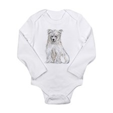 Chinese Crested Powder Puff Long Sleeve Infant Bod