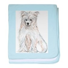 Chinese Crested Powder Puff Infant Blanket