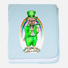 Pug St Patrick's Day Infant Blanket