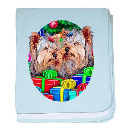 Yorkshire Terrier Open Gifts Infant Blanket