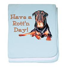 Rottweiler Rott'n Day Infant Blanket