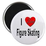 I Love Figure Skating Magnet