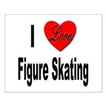 I Love Figure Skating Small Poster