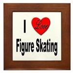 I Love Figure Skating Framed Tile