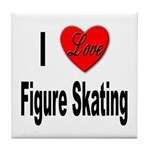 I Love Figure Skating Tile Coaster