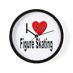 I Love Figure Skating Wall Clock