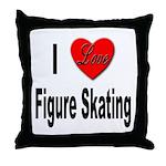 I Love Figure Skating Throw Pillow