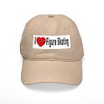 I Love Figure Skating Cap