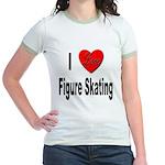 I Love Figure Skating (Front) Jr. Ringer T-Shirt