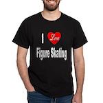 I Love Figure Skating (Front) Black T-Shirt