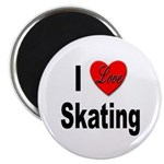 I Love Skating Magnet