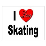 I Love Skating Small Poster