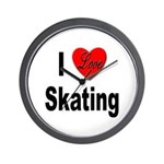 I Love Skating Wall Clock