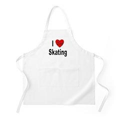 I Love Skating BBQ Apron