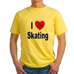 I Love Skating (Front) Yellow T-Shirt