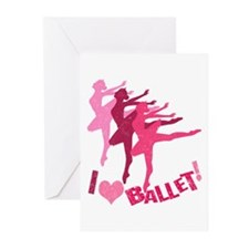 I Love Ballet Greeting Cards (Pk of 20)