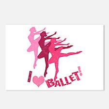 I Love Ballet Postcards (Package of 8)