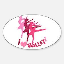 I Love Ballet Decal