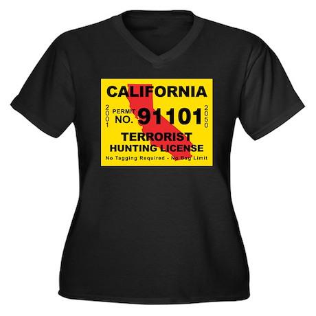California Terrorist Hunting Women's Plus Size V-N