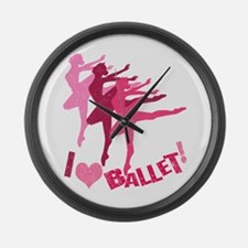 I Love Ballet Large Wall Clock