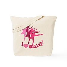 I Love Ballet Tote Bag