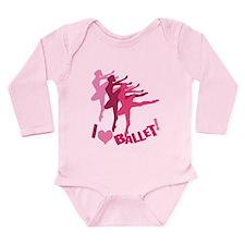 I Love Ballet Long Sleeve Infant Bodysuit