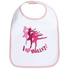 I Love Ballet Bib