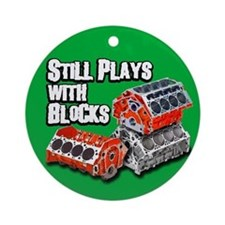 Still Plays With Blocks 2 Ornament (Round)