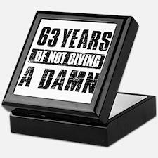 63 years of not giving a damn Keepsake Box